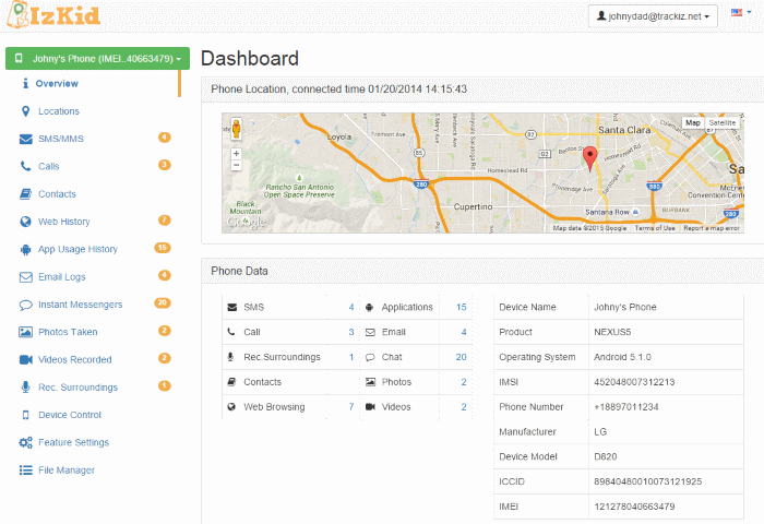 Mobile Tracking Features